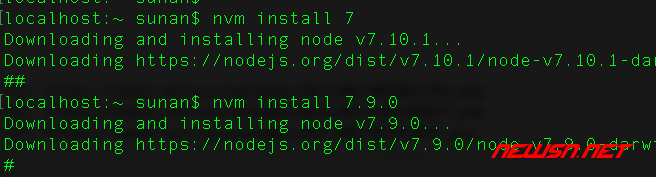 切换node版本的nvm工具的基本使用 - install