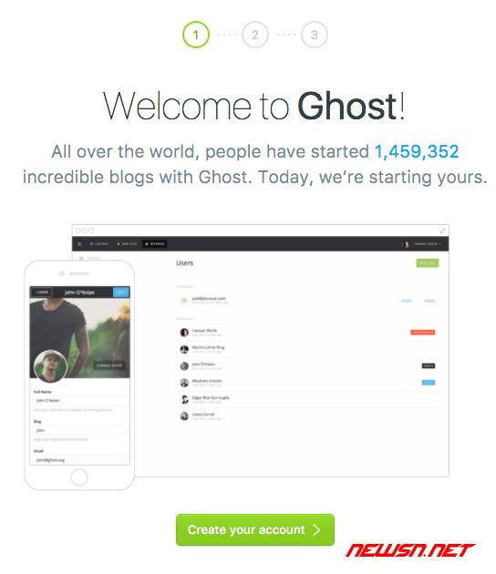 ghost博客如何设置后台管理员密码? - 011