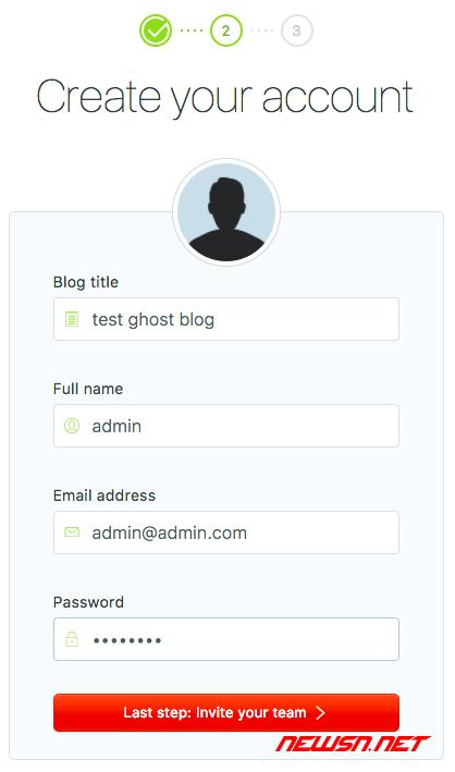 ghost博客如何设置后台管理员密码? - 012