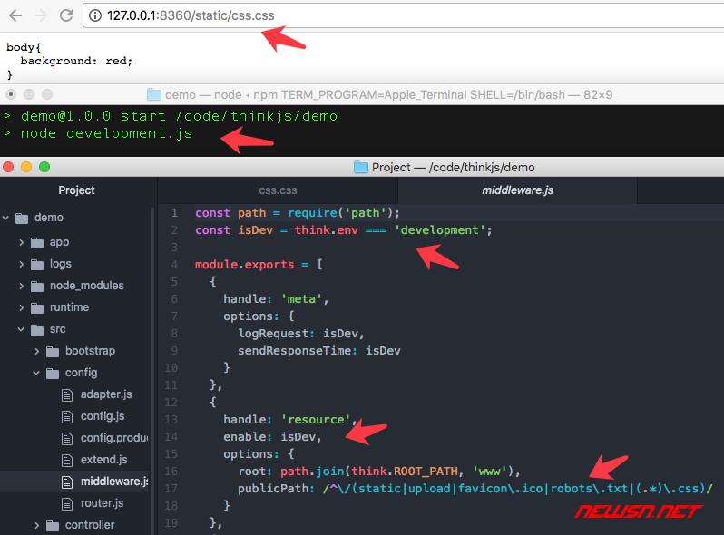 thinkjs生产模式下,静态资源文件404问题的解决方案 - 001