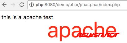apache的handler模式下,phar安全设置 - apache_test