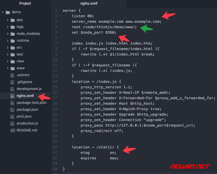thinkjs生产模式下,静态资源文件404问题的解决方案 - 009