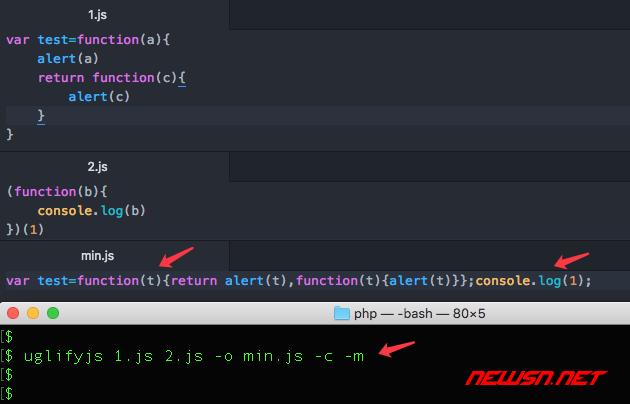 如何使用uglifyjs合并精简混淆js文件,uglifyjs范例小结 - 004-cm
