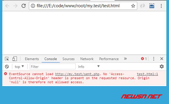 html5的服务器端推送事件Server-Sent Events解析 - 002_不支持跨域