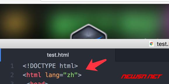 网页html标签的lang属性,影响chrome的翻译工具展示 - html_lang_zh
