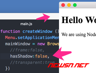 mac,electron窗体如何去除系统阴影 - 01_去除阴影