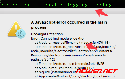 electron如何通过--debug启动参数,调用开发者工具 - 010