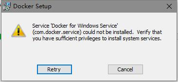 win10系统,如何安装docker和kitematic - docker_win_03_error