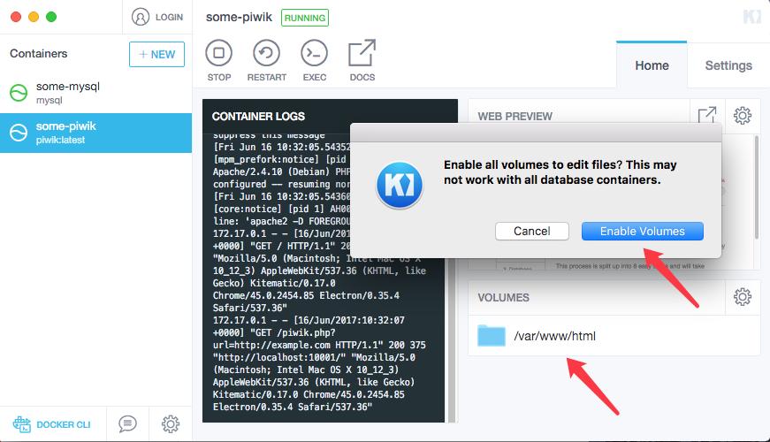 docker安装piwik - docker-enable-folder