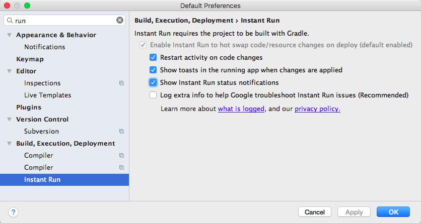 android-studio配合小米手机调试,解决方案 - apk_instant_run